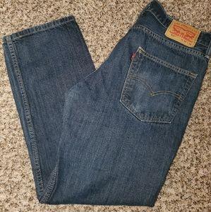 "Levi's 514 33""30"" men's jeans dark wash"